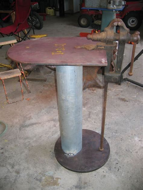 fabricating leg vice stand metal working tools blacksmithing welding table