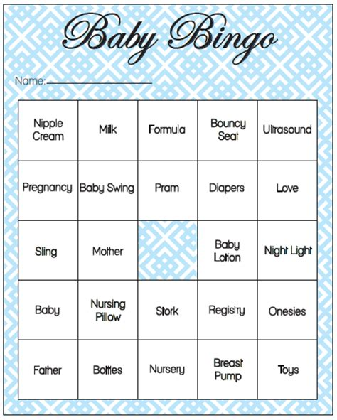 Baby Shower Bingo Free Printable by 14 Printable Baby Shower That Are To Play Tip