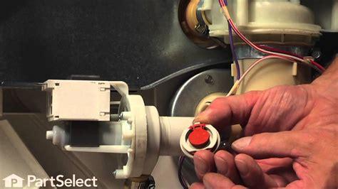 dishwasher repair replacing  check valve flapper ge