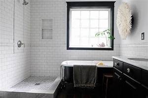 cool black and white bathroom design ideas With black and white tile bathroom decorating ideas