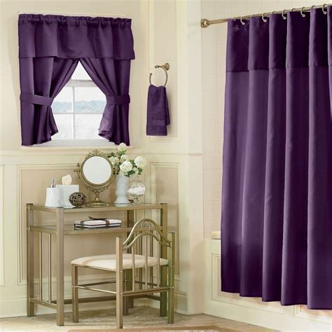 bathroom: Beautiful Bathroom Curtain for More Private