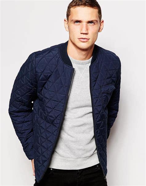 mens quilted bomber jacket bomber jacket blue jacket to