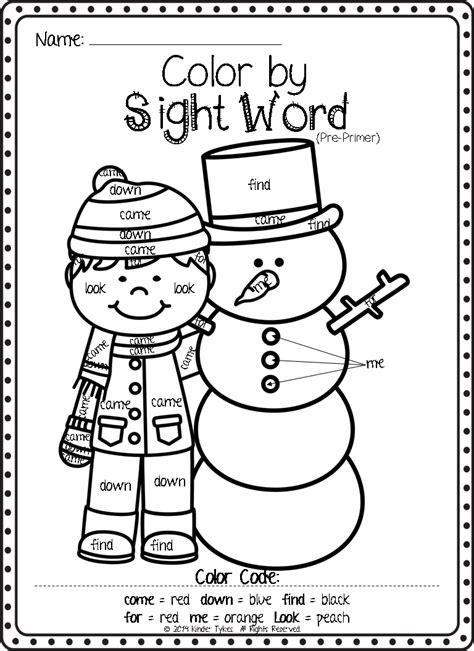 Kindergarten Sight Word Coloring Worksheets Homeshealthinfo