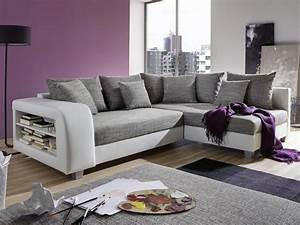 canape angle convertible tissu simili noir ou blanc kuopio With tapis de gym avec canapé tissu confortable