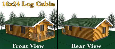 16x24 log cabin meadowlark log homes