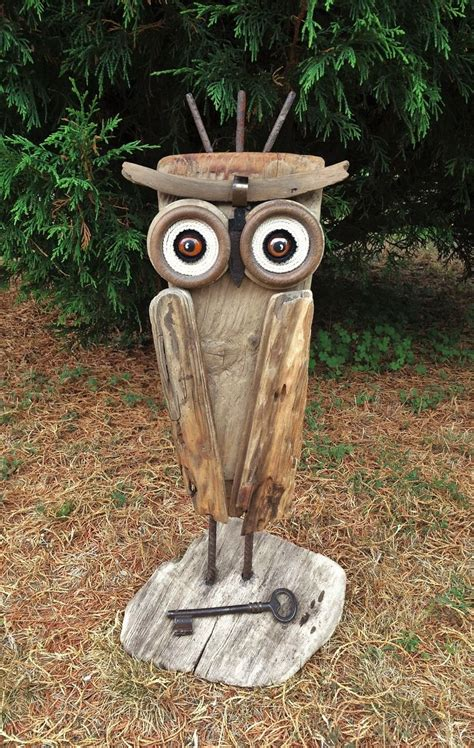 la grande chouette du bois flott 233 driftwood