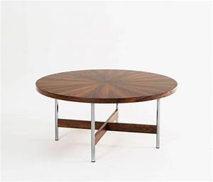 large round cocktail table in rosewood for sale at 1stdibs With huge round coffee table