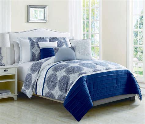 6 piece heidi denim blue reversible comforter set
