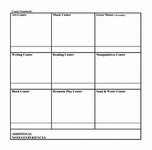 Sample toddler lesson plan 8 example format for Toddler lesson plan templates blank