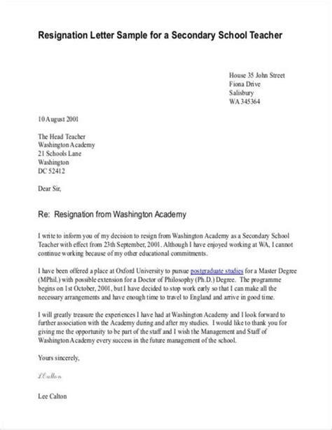 write  resignation letter teacher  baccedfd