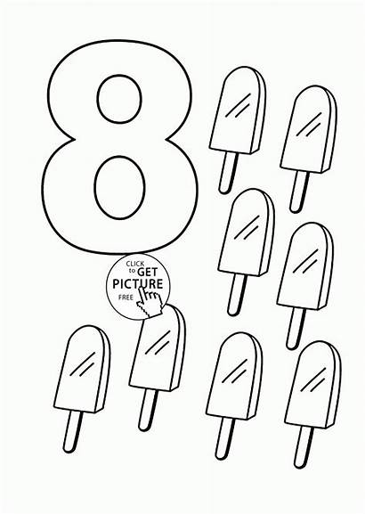 Coloring Number Pages Counting Sheets Printables Numbers