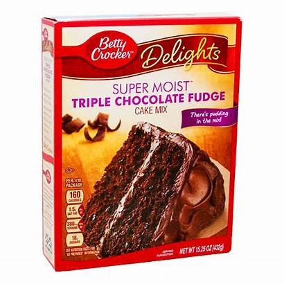 Triple Chocolate Mix Cake Fudge Betty Crocker