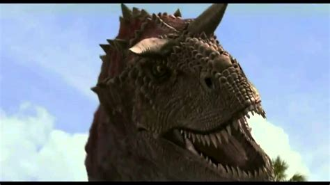 Tyrannosaurus Roaring At Triceratops