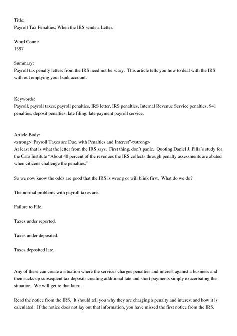 Letter to irs requesting removal of penalties howtoviews how to write a letter irs waive penalty images format thecheapjerseys Gallery