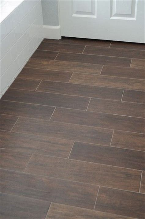 ceramic tile that looks like wood what a great idea for