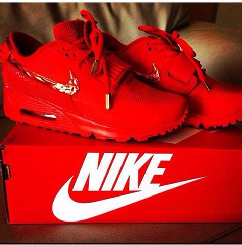 Shoes red nike air max kicks sneakers fashion dope celebrity style trendy clothes ...