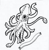 Squid Coloring Giant Colossal Drawing Pages Clipartmag Printable Getcolorings sketch template