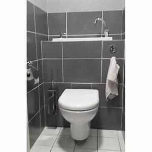 Lave Main Suspendu : wc suspendu design avec lave main wici bati ~ Nature-et-papiers.com Idées de Décoration