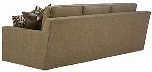 Sleek steal grey sofa with chic nailhead trim for Gray sectional sofa with nailhead trim