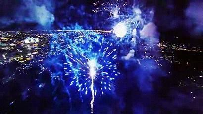 Fireworks Flying Display Through