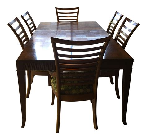checkerboard top dining table chairs chairish