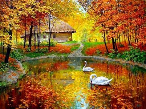 autumn pond pictures   images  facebook