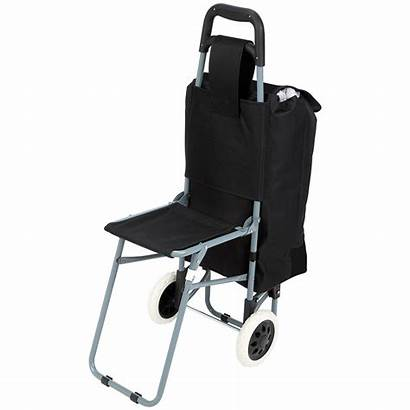 Folding Trolley Chair Bag Luggage Seat Maxam