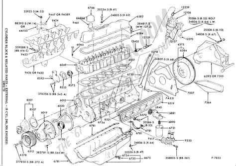 Ford 3 0 Liter Engine Diagram by Ford Truck Technical Drawings And Schematics Section E