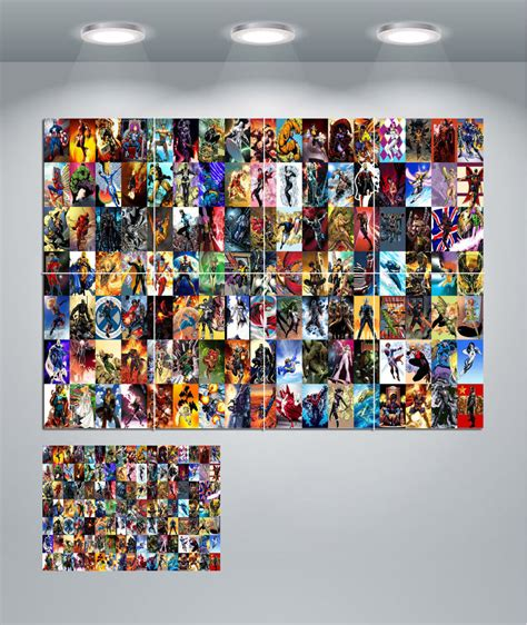 marvel wall decor marvel collage characters wall poster