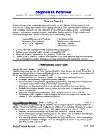 finance director resume sle finance director resume sales director lewesmr