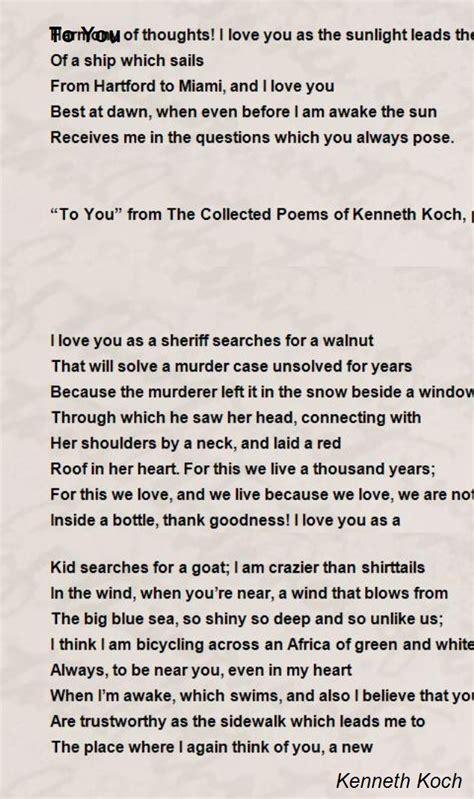 poem  kenneth koch poem hunter