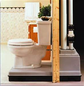 Upflush toilet or a sewage ejector system doityourself for Bathroom pumps for basements
