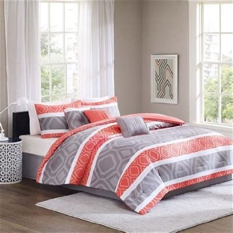 orange and gray comforter set top orange and grey comforter with regard to