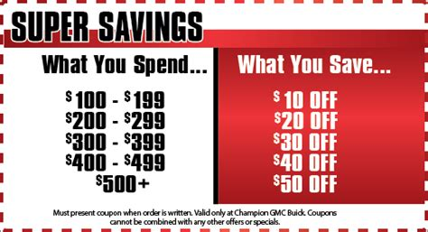 Buick Service Coupons by Auto Service Specials Brighton Chion Gmc Buick