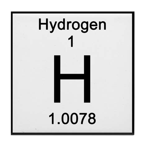 table set for sale periodic table hydrogen tile coaster by science