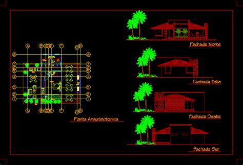bungalow  dwg design elevation  autocad designs cad