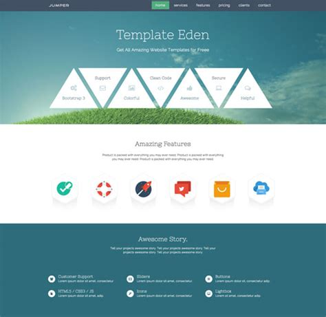 15 free one page html psd website templates web