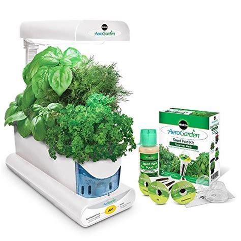 aero herb garden aerogarden sprout with gourmet herb seed pod kit white 1168