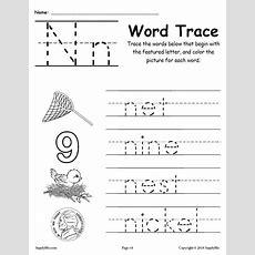 Letter N Words  Free Alphabet Tracing Worksheet Supplyme