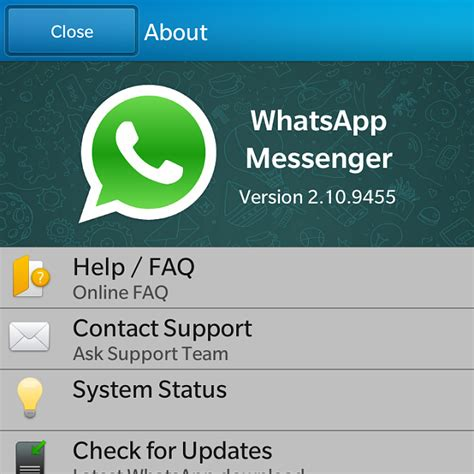 whatsapp messenger for blackberry 10 gets a update