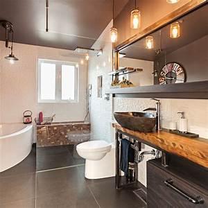 stunning salle de bain rustique industriel contemporary With salle de bain rustique