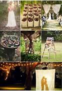 2014 DIY Backyard Wedding Inspirations For Country Rustic Wedding DIY Outdoor Country Wedding Decorating Ideas DIY Outdoor Wedding Totally Natural I Love Light And Plants Vintage Wedding Ideas Mason Jars For Wedding Decor OneWed