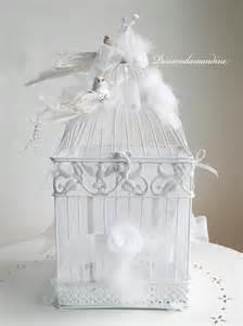 idã e urne mariage cage urne de mariage blanche avec oiseaux autres accessoires par passiondamandine