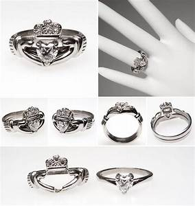 i want i want i want irish claddagh heart diamond With claddagh ring wedding set