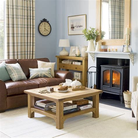 Living Room Ideas Brown Sofa Uk by New Home Interior Design Traditional Living Room