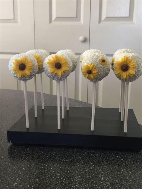 sunflower cakepops totally cakepops pinterest