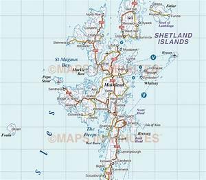 Detailed Scotland Road  U0026 Rail Map Incl  Orkney  U0026 Shetland