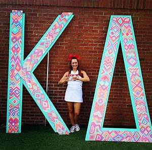 72 best letter ideas images on pinterest kappa delta With giant sorority letters