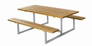Table Bois Pique Nique : basic table de jardin pique nique design en bois 177x160x73cm ~ Melissatoandfro.com Idées de Décoration