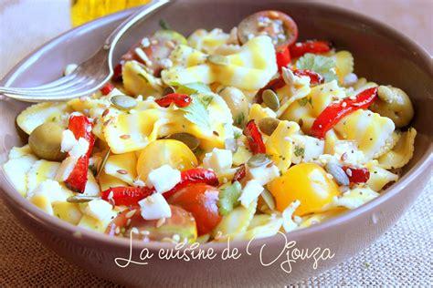 recette cuisine plus salade de pâtes froide italienne recettes faciles